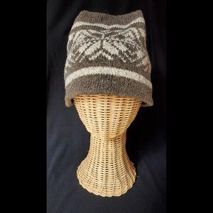 Eddie Bauer Winter Ski Hat Snowflake wool knit
